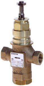 2-way valve with female thread, PN 16 (el.)