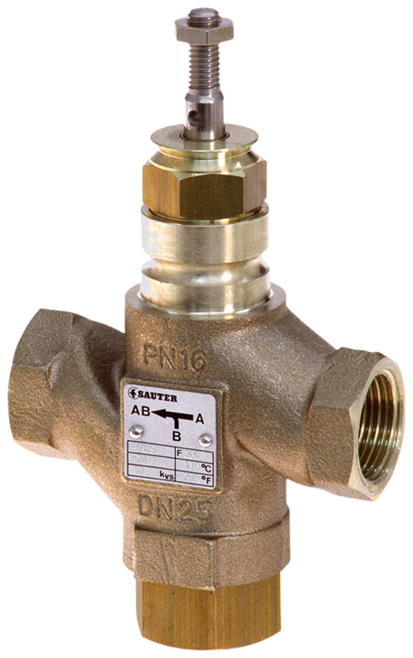 3-way valve with female thread, PN 16 (el.)
